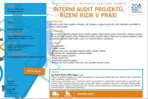 interní audit projektů rizeni rizik v praxi